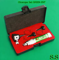 Otoscope Set Green Ent Medical Diagnostic Instruments (batteries Not Included)