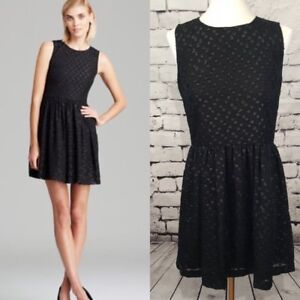 9fd1ffe3eb8 Image is loading French-Connection-Polka-Sparks-Dress-Black-Sparkle-Polka-
