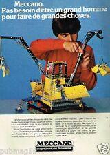 Publicité advertising 1979 Jeu Jouet Meccano