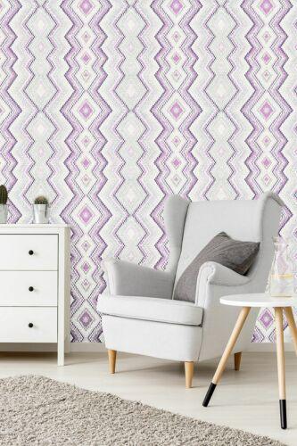 "02545-10-919 edle Design Vliestapete /""Fashion for Walls/"" creme lila silber"