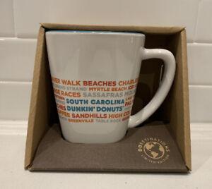Dunkin Donut South Carolina DD Destinations Coffee Tea Cup Mug 12 oz RARE