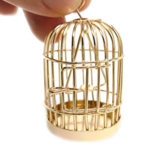 1:6 Scale Dollhouse Miniature Garden Metal Bird Cage Bronze Life Sence Accs