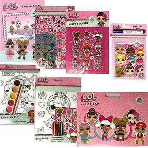 LOL-SURPRISE-ART-AND-CRAFTS-COLOURING-PAINTING-STICKER-BOOKS-FUN-GIRLS-XMAS-TOY