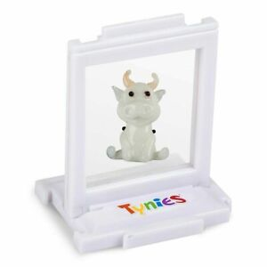 Tiko Black Cow Tynies Tiny Glass Figure Figurine Collectible 0167