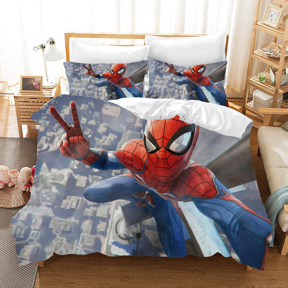 Spider Man Air 3D Druckening Duvet Quilt Will Startseites Pillow Case Bettding Sets