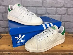 Adidas-Femme-Stan-Smith-Blanc-Vintage-Serpent-Vert-Baskets-Retro-Tailles-Diverses