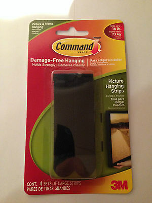 COMMAND 17207 Narrow Picture//Poster//Canvas Hanging Strips Pk4 Holds up to 5.4kg