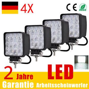2X 48W LED Arbeitsscheinwerfer Offroad Scheinwerfer JEEP Bagger SUV 12V 24V IP67