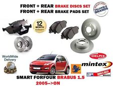 FOR SMART FORFOUR BRABUS 1.5 TURBO 2005-> FRONT & REAR BRAKE DISC SET + PADS KIT