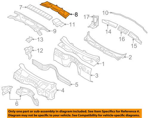 BMW OEM 07-13 328i Cowl-Filter Housing 64316987498