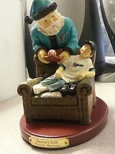 Cristmas Giff Marlins Figurine Great Gift Santa Claus & Baseball Kid Collectable