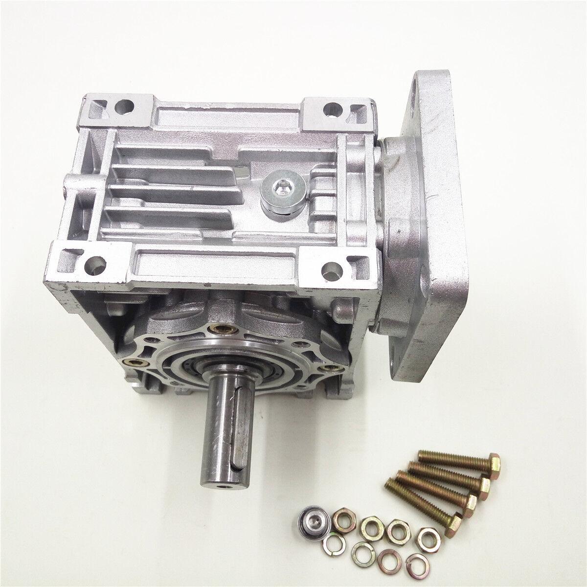 Nema34 Worm Gearbox Geared Speed Reducer 14mm Input Reduction for Stepper Motor 11