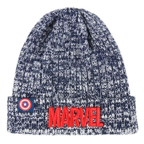 Boys Girls Kids Official Marvel Avengers Winter Beanie Hat One Size 4-8 Years