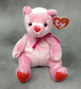 TY Beanie Baby ROMANCE Valentine Bear Mint & Mint Tags 1 Owner Smoke Free Home