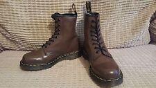 Dr. MARTENS size 5 BROWN patent 1460 ankle punk hippy festival