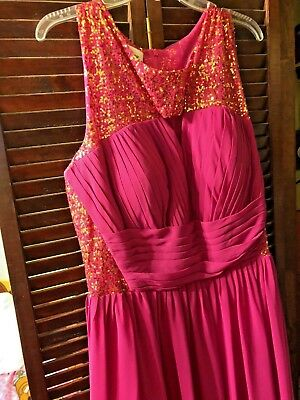 Hot Pink And Gold Sequined Light In The Box Plus Size Formal Dress. Size 24  | eBay
