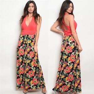35882c15d6 NWT Medium Women s Gilli Brand Floral Maxi Dress Summer Boutique Top ...