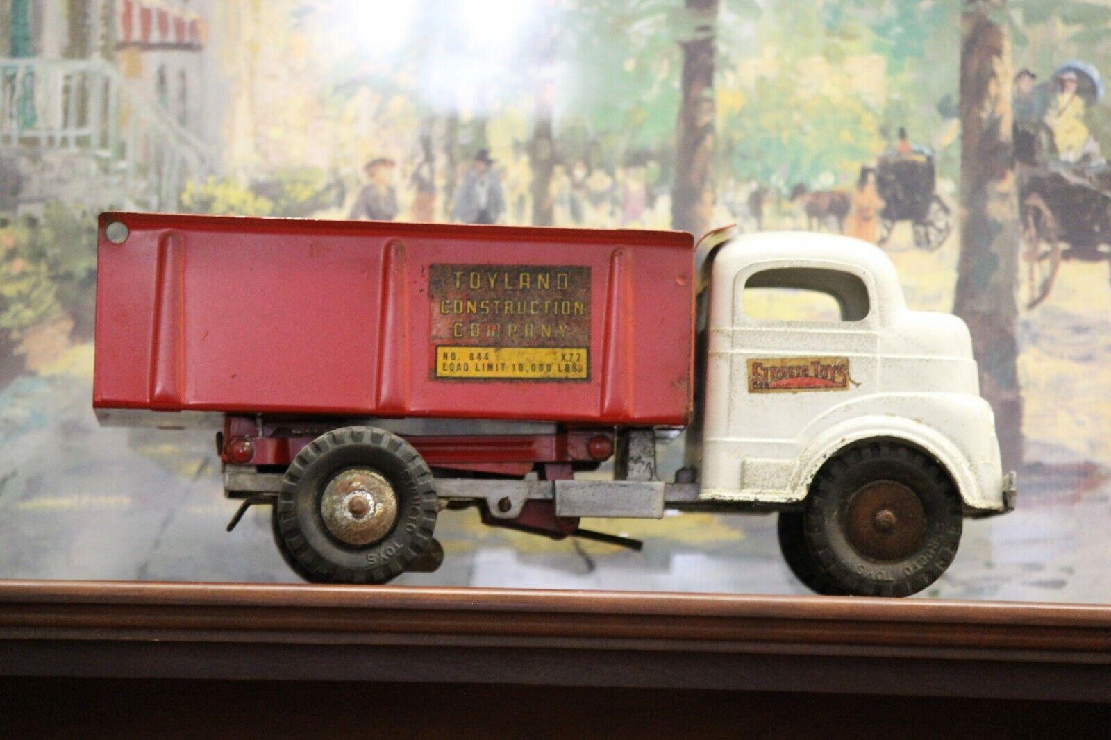 la mejor selección de Vintage Structo Cuerda Jugueteland Jugueteland Jugueteland construcción Co. camión-todo Original   están haciendo actividades de descuento