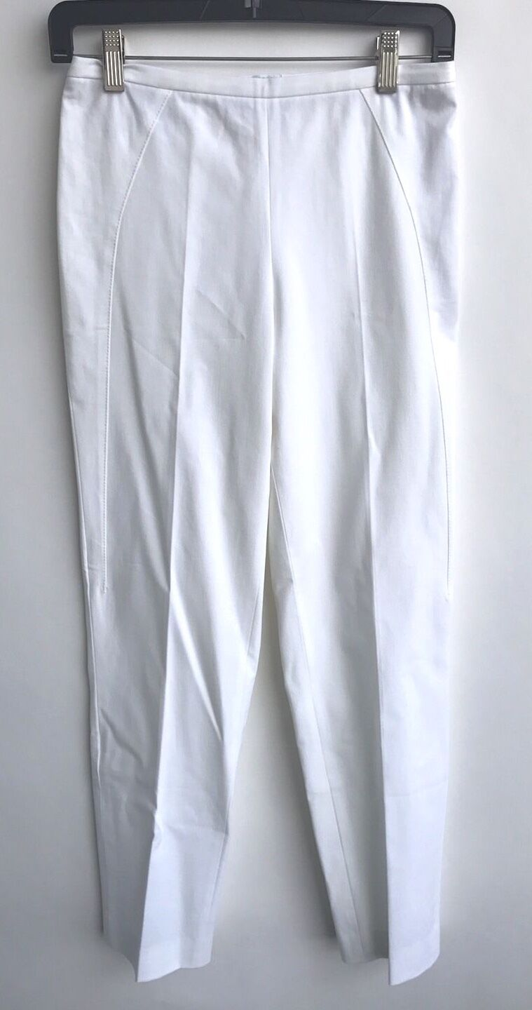 New Brunetto Cucinelli Size 4 White Ladies Pants