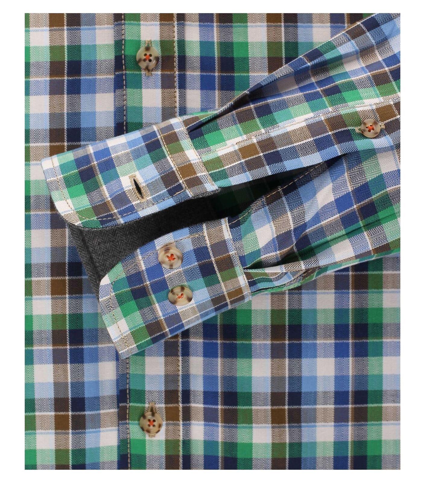 CASA CASA CASA MODA Premium Baumwolle Kentkragen bequeme Passform LS Shirt blau, Größe  | Günstigen Preis  c4211c