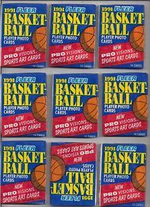 1991-FLEER-BASKETBALL-9-sealed-wax-packs