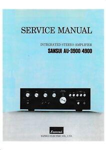 Praktisch Service Manual-anleitung Für Sansui Au-3900,au-4900 Tv, Video & Audio