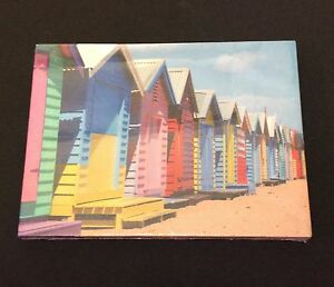 Image Is Loading Small Colourful Beach Hut Art Canvas Wall Hanging