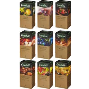 Thé noir Greenfield 25 intercalaires de nombreuses saveurs libre Expédition Mondiale
