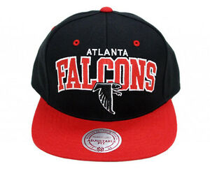 the best attitude 4bc73 332bf Details about New NFL Atlanta Falcons ---Mitchell and Ness--- Arch Snapback  - Black/Red