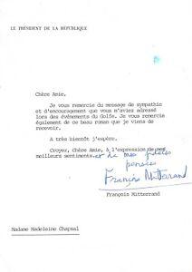 Francois-MITTERRAND-Lettre-signee-propos-de-la-Guerre-du-Golfe-1991
