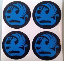 4x 60 mm fits opel wheel STICKERS center badge centre trim cap hub alloy blue