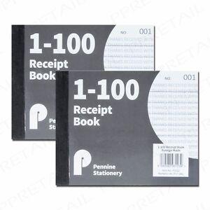 2x mini a6 receipt books invoice duplicate notepad cash pad 1 100
