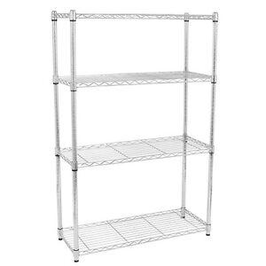 4-5-Tier-Storage-Rack-Organizer-Kitchen-Shelving-Steel-Wire-Shelves-Black-Chrome