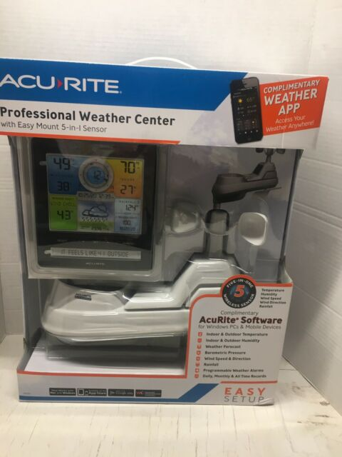 ACU-RITE Professional Weather Center 5in1 Sensor Wind Speed Weather Tracker NIB