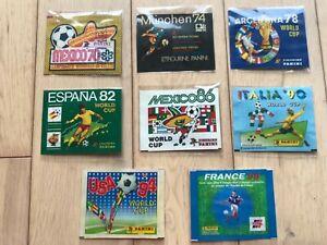 Panini Mexico 70 and 74 78 82 86 90 94 98 packets bustina.