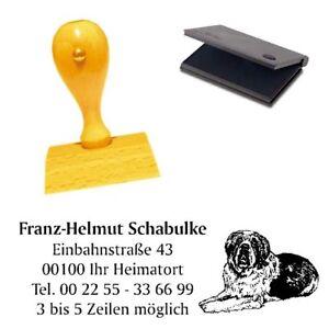 Adressenstempe<wbr/>l « BERNHARDINER » mit Kissen - Hundeschule Haustier Bergwacht
