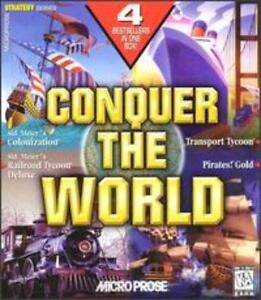 Conquer the World PC CD 4 games Sid Meiers Colonization Railroad