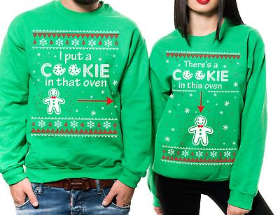 Pregnancy Christmas Sweater.Christmas Matching Couple Unisex Sweatshirts Pregnancy Christmas Sweaters Ebay