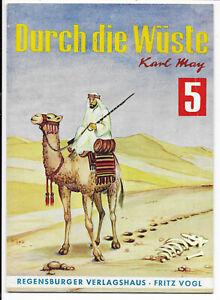 Karl-May-Nr-5-von-1964-Durch-die-Wueste-TOP-Z1-ABENTEUER-ROMANHEFT-Fritz-Vogl