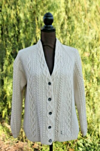 1950s Hand Knit fishermans cable sweater Med LG Iv