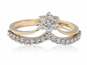 0-41-Cts-Ronde-Brillante-Couper-Naturel-Diamants-Fiancailles-Bague-En-585-14K-Or