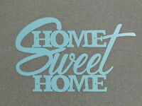 Home Sweet Home Wood Turquoise Wall Words Art Sign Decor