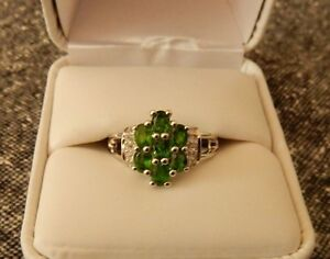 1-43ct-Size-7-Natural-Chrome-Diopside-amp-White-Topaz-Sterling-Silver-Ring
