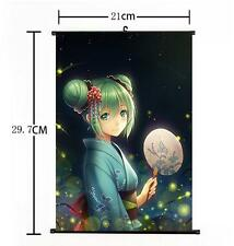 Hot Japan Anime Cute Sexy Hatsune Miku Vocaloid Home Decor Poster Wall Scroll 98