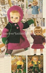Really Simple Knitting Patterns For Dolls Clothes : VINTAGE KNITTING PATTERN FOR VERY EASY-TO-KNIT DOLL CLOTHES - BEGINNER KNIT ...