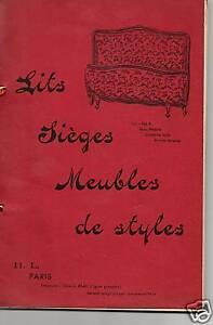 Catalogue Luxe Art Deco Ameublement Levy 1958 Haut Niveau De Qualité Et D'HygièNe