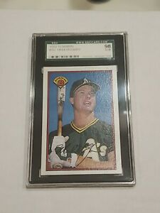 1989 Bowman Mark McGwire SGC 98 = SGC 10 Gem Mint Rare!!!