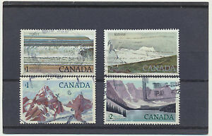 Canada-National-Parks-4-diff-High-Face-Value-Used-Stamps-726-727-934-936