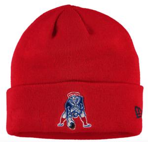 New England Patriots New Era NFL Solid Cuffed Knit Hat Red