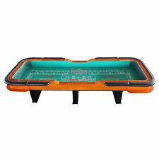 "137"" (11.5 ft.)  portable Craps Table, dice rubber both ends: green or blue felt"